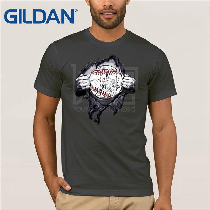 Super béisbol camiseta de regalo softball en corazón gafas de sol hombres camiseta Tops verano Camisetas cuello redondo Camiseta de algodón