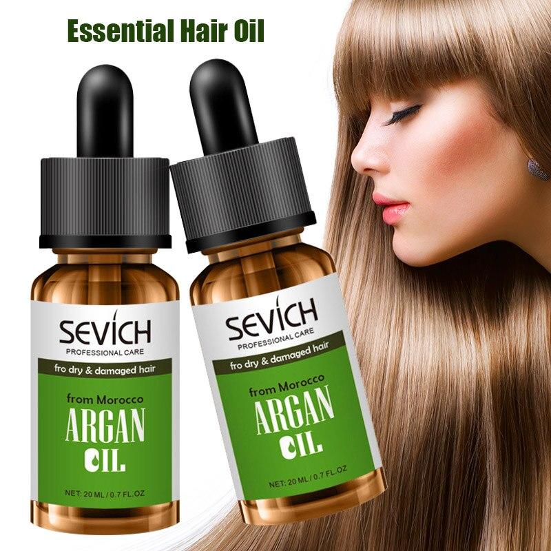 Aceite de argán marroquí de alta calidad puro Multi-funcional cuidado del cabello aceite esencial 20ml