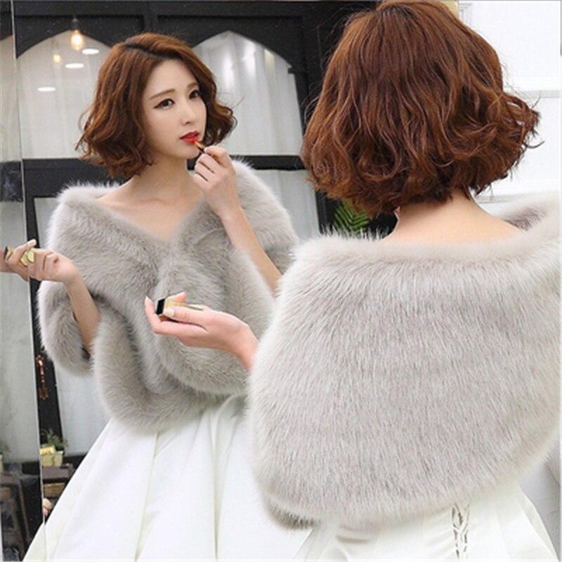 2021, дешево, в наличии, красная, черная теплая Свадебная накидка-болеро, зимняя меховая женская куртка, шаль, Свадебные плащи, свадебное пальт...