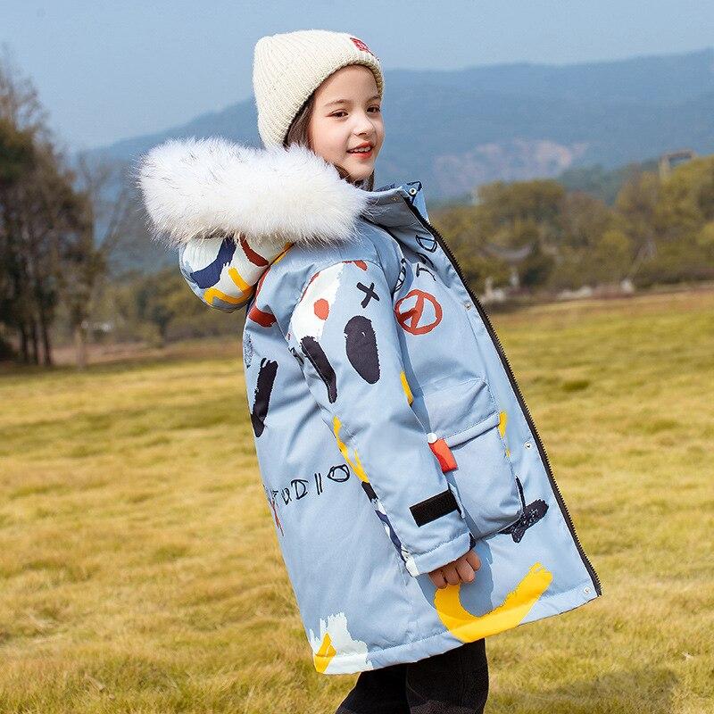 OLEKID 2021 سترة شتوية روسية للبنات بقلنسوة مضادة للماء معطف شتوي للأولاد دافئ 5-14 سنة ملابس خارجية للأطفال في سن المراهقة سترة