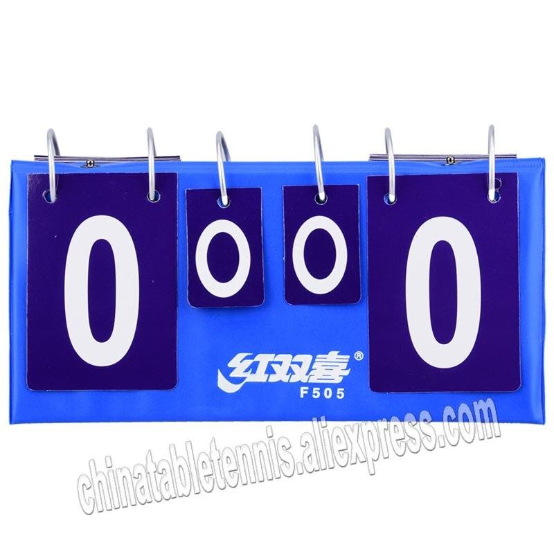 Dhs F505 المحمولة الوجه تنس طاولة لوحة النتائج بينغ بونغ سجل لعبة رياضية تسجيل المجلس