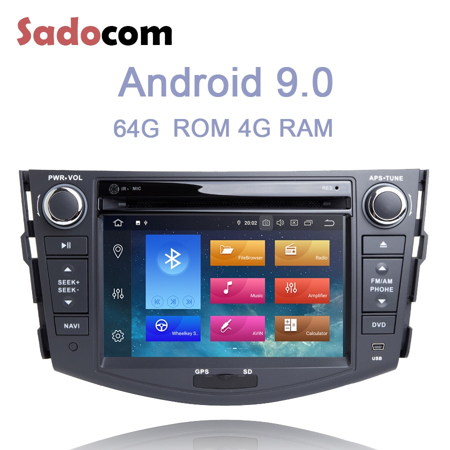 "7 ""IPS 2 din Android 10,0 reproductor de DVD del coche 8 Core 64GB ROM 4GB RAM GDS autoradio Bluetooth 4,0 para Toyota RAV4 RAV 4 2006 - 2012"