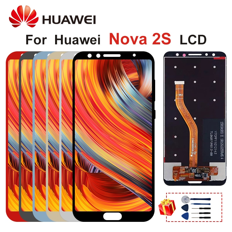 "6,0 ""para Huawei Nova 2S Display HWI-AL00 HWI-TL00 pantalla LCD Digitalizador de pantalla táctil, piezas de sustitución para Nova 2S"