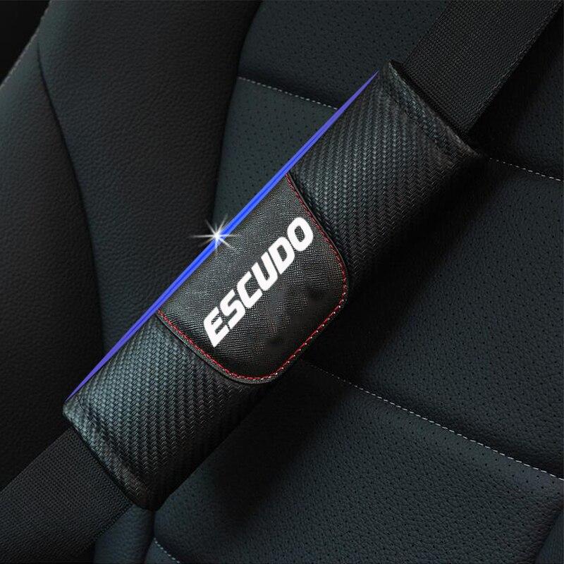 Pour Suzuki Escudo 2 pièces en cuir de Fiber de carbone housse de ceinture de sécurité de voiture