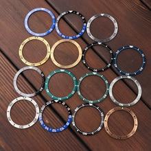 Sloping Ceramic Bronze Steel Bezel Insert 38*30.6mm MOD For Seiko Brand SKX007 SKX009 Divers Replace