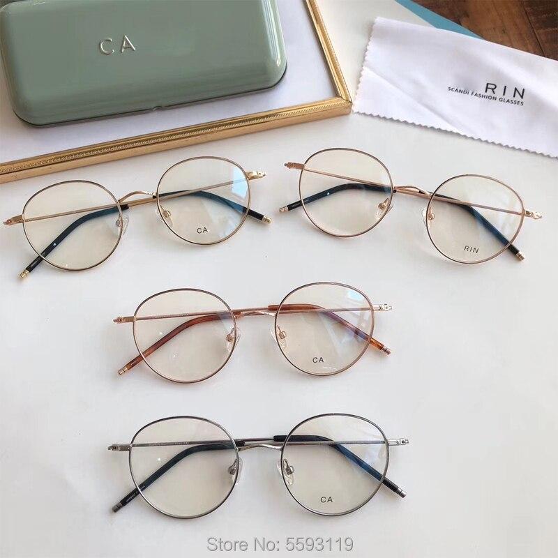 2019 جين النظارات البصرية إطار التيتانيوم النظارات نظارات للقراءة النساء الرجال إطارات نظارات قصر النظر وصفة طبية
