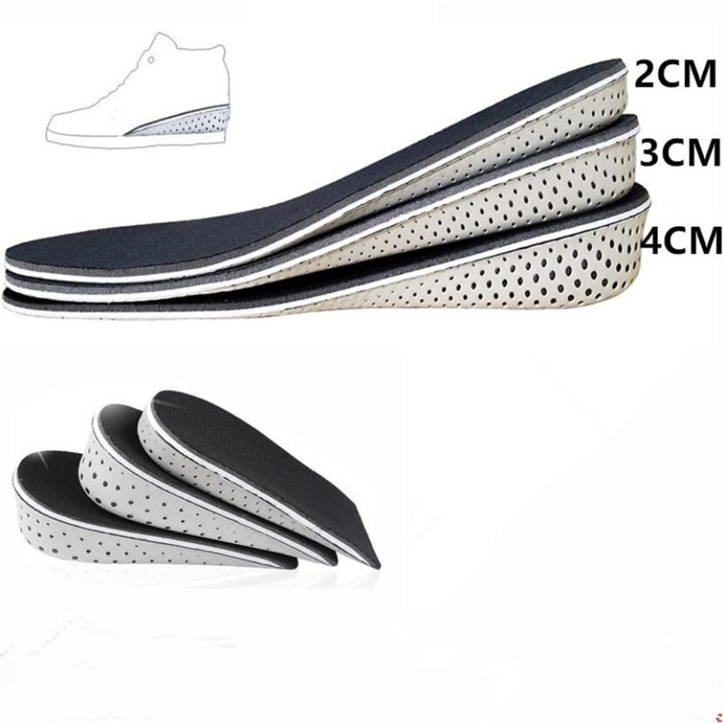 1 Pair Hard Breathable Memory Foam Height Increase Insole Heel Lifting Inserts Shoe Lifts Shoe Pads
