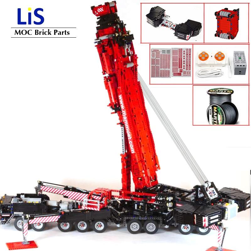NEW Upgraded Power Mobile Crane Building Blocks Model MOC-20920 LTM11200 Liebherrs High-tech Motor Kit DIY Bricks Toys Boy Gifts