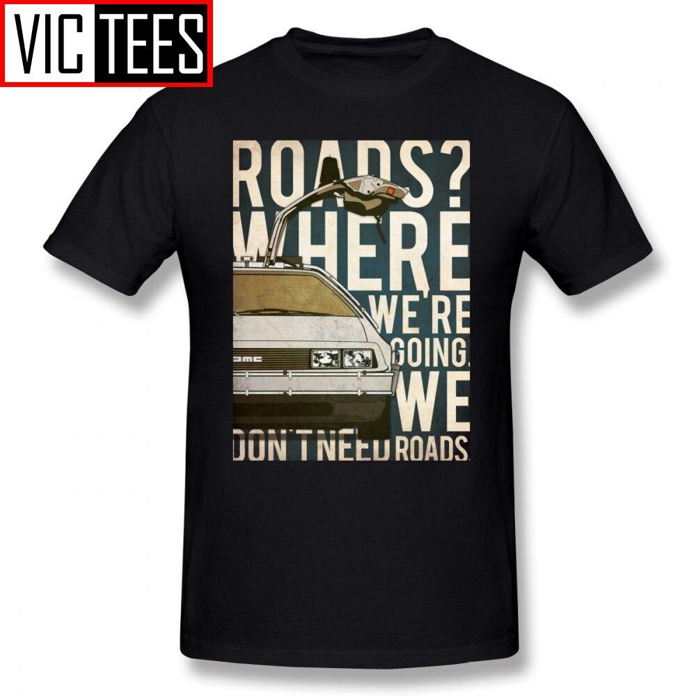 Mens Back To The Future T Shirts Back To The Future T-Shirt Funny Tee Shirt Male Graphic XXX Fashion Cotton Tshirt