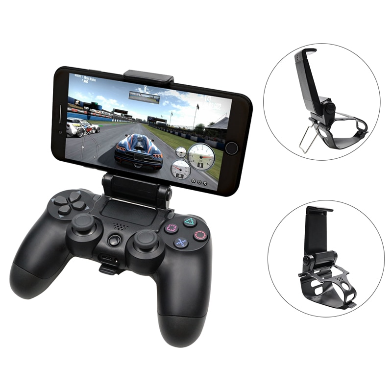 Mobile Cell Phone Stand For PS4 Controller Mount Hand Grip For PlayStation 4 Gamepad For Samsung S9