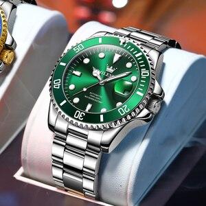 Мужские автоматические механические часы OLEVS роскошный бренд классический стиль светящиеся водонепроницаемые часы из тонкой стали модные часы 6650