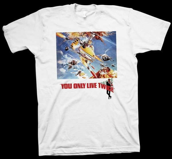 You Only Live Twice T-Shirt Lewis Gilbert, Sean Connery, Hollywood Cinema Film