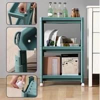 kitchen shelf removable shelf multi layer trolley bathroom storage containers narrow slot storage bathroom floor stand