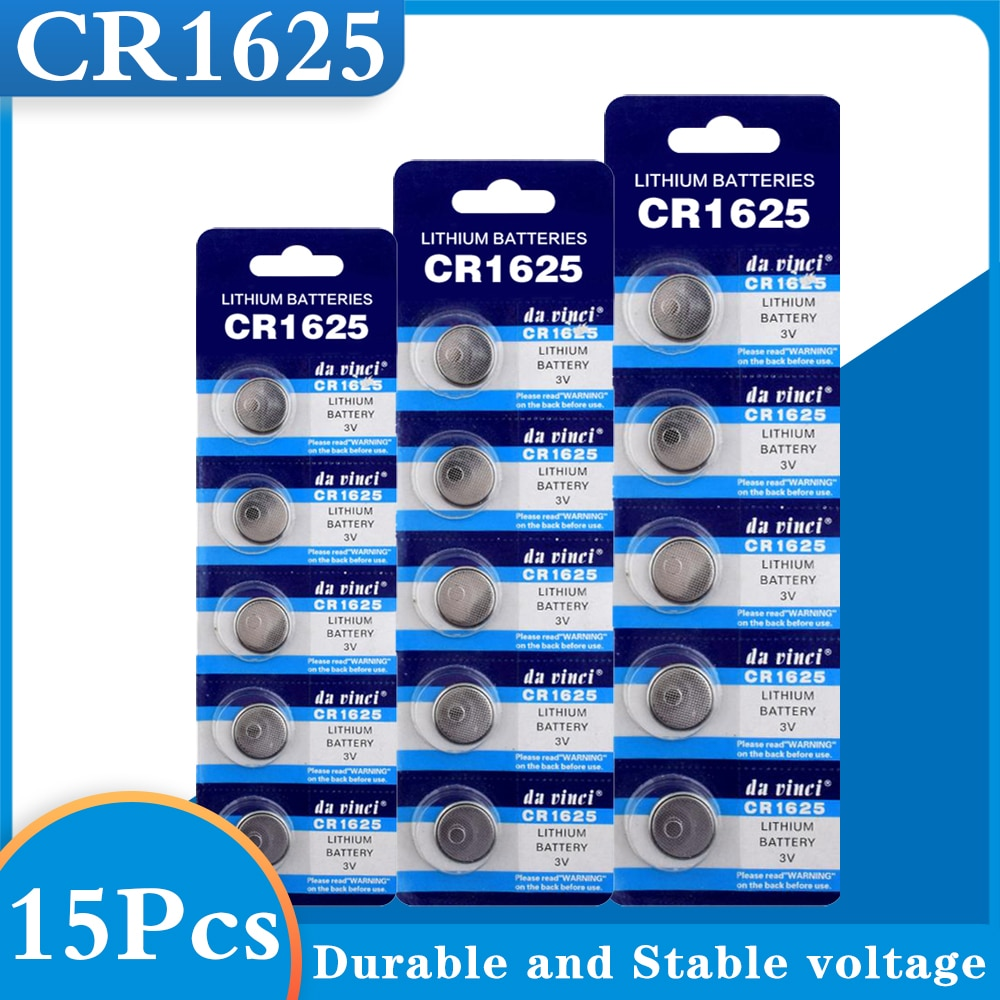 15PCS CR1625 Button Batteries BR1625 LM1625 KCR1625 Cell Coin Lithium Battery 3V CR 1625 For Watch Electronic Toy Remote