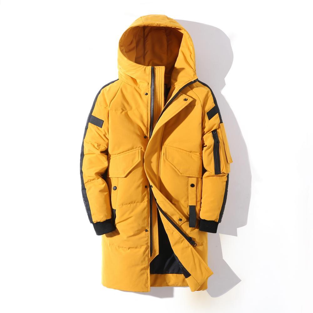 Новинка 2021, стильная мужская зимняя куртка с перьями для подростков, Теплая мужская куртка, плотная брендовая одежда, мужская одежда, теплая...