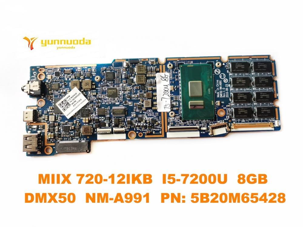 الأصلي لينوفو MIIX 720-12IKB اللوحة المحمول MIIX 720-12IKB I5-7200U 8GB DMX50 NM-A991 PN 5B20M65428 اختبار جيدة