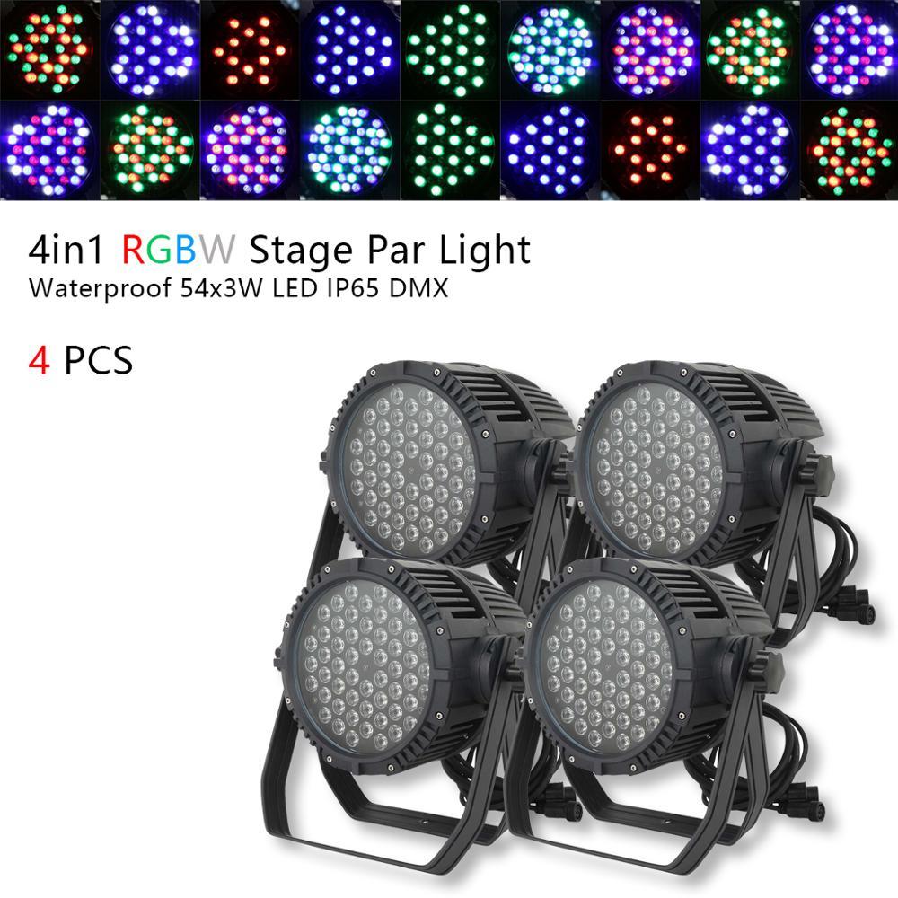 4 قطعة RGBW الاسمية المرحلة الإضاءة للماء LED 162W IP65 DMX ضوء نادي ديسكو DJ