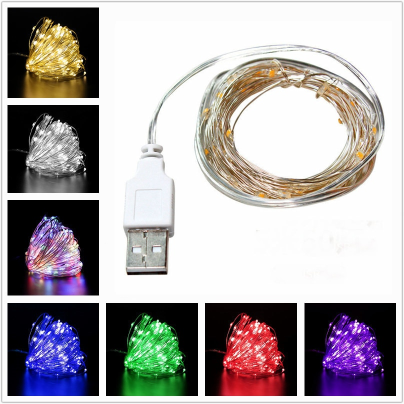 10M USB LED String Light Waterproof LED Copper Wire String Outdoor Fairy Lights For Christmas Party Wedding Decoration Hot zdm 10m usb copper wire waterproof led string light 100 leds for festival christmas party decoration dc5v