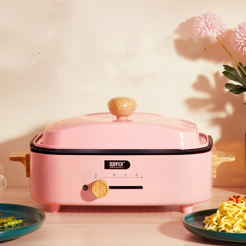 Multifunction Electric Cooker Mini Hotpot Barbecue Grill Griddle Egg Omelette Frying Pan Stove Crepe Pancake Pie Baking Roaster