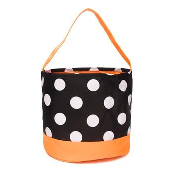100pcs Lot Polka Dot Halloween Bucket Cron stripes Halloween Gift Collection Bag DOMIL1046