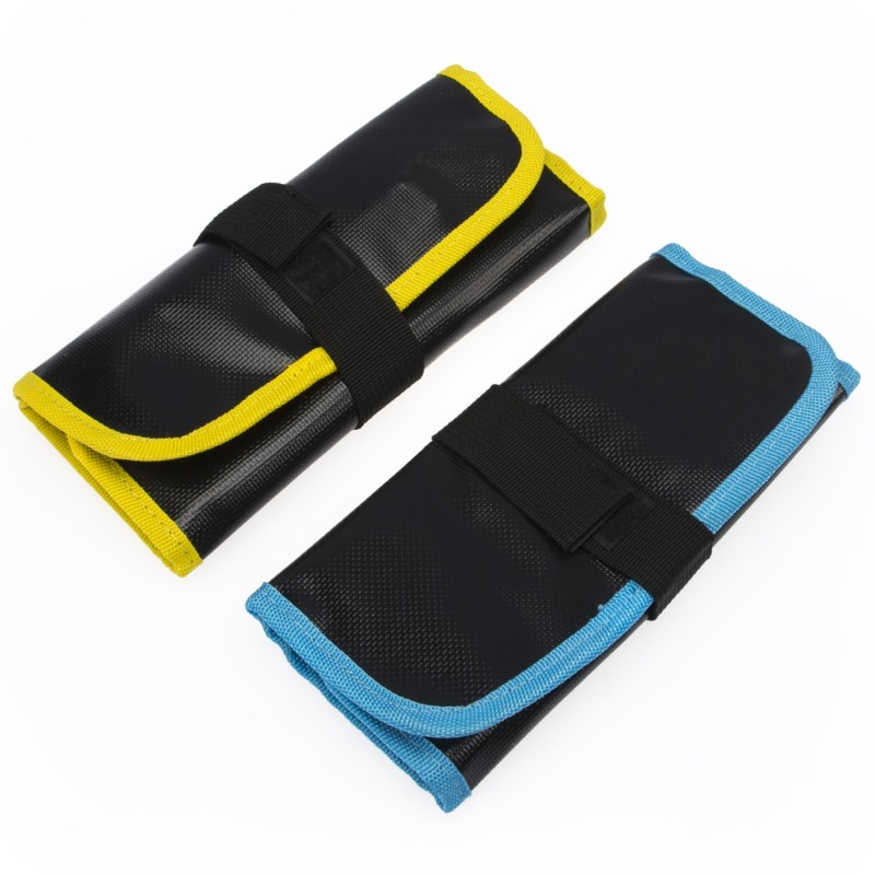 Fishing Lure Bag Polyester Waterproof PVC Jig Bag 12 Slots Fishing Bag Lure Organizer Baits Storage Bag Fishing Tools