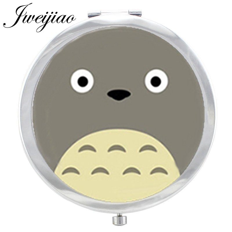 Youhaken Cartoon moive Totoro glass cabochon 1X/2X Magnifying Beauty Health Round silver plated pock