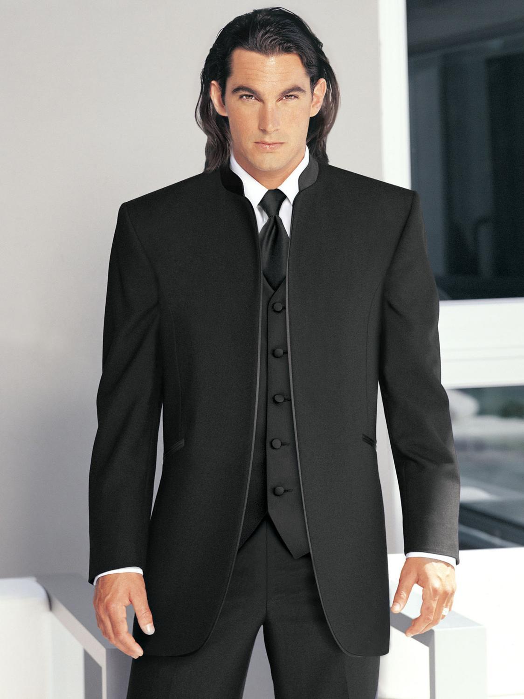 وسيم كلاسيكي مخصص أسود بدل زفاف للرجال بدلة العريس ثلاث قطع بدل رجالي 2021 تناسب رجال العريس