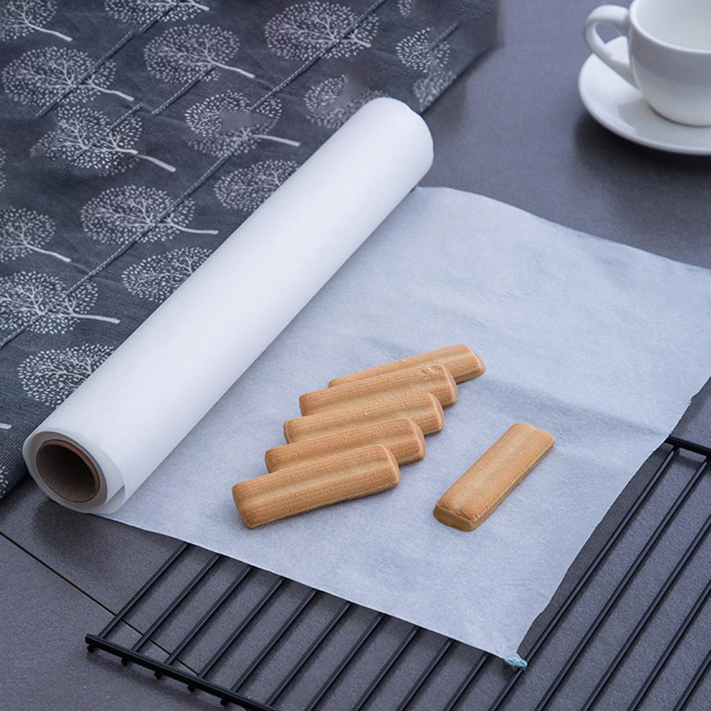 5/10/20/35m Kitchen Greaseproof Non-stick Oven Liner BBQ Baking Cooking Paper Wooden Paper Impermeable Baking Liner