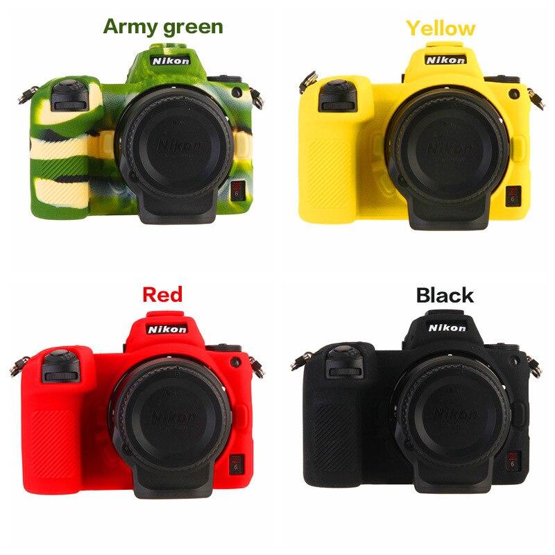 Cubierta de cuerpo de la Cámara Protector de silicona suave funda de piel de TPU cuerpo de goma funda de cámara para Nikon Z6 Z7
