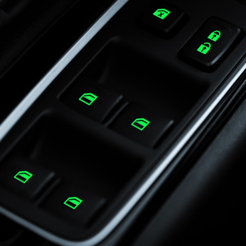 Наклейка на окна двери автомобиля, светящаяся наклейка на кнопку для hyundai accent solaris tucson getz santa fe coupe i20 veloster ix25 creta