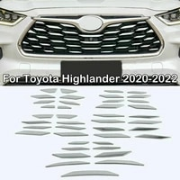 for toyota highlander new 2020 2022 chrome stainless front bumper grille decal trim car exterior comfortable durable