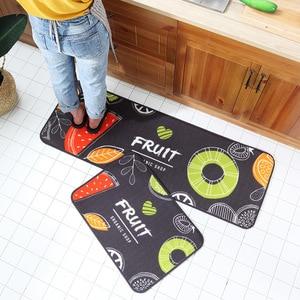 Printed Anti-slip Long Mat for Floor Water Absorption Carpets Home Entrance Doormat Kitchen Gadgets Living Room Floor Mats