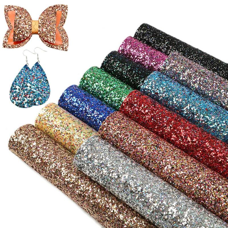 20CM*15CM Glitter Fabric Shiny Laser Sequins Patchwork DIY Bag Shoes Accessories Fabric Handmade Pho