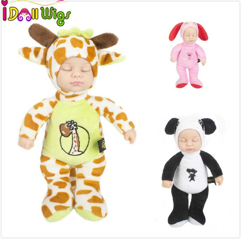 Big discount! 25cm long Sleep Doll Toys for Children Silicone Baby Lifelike Kids Toys with many color