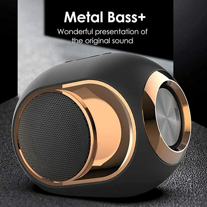 X6 Altavoz Bluetooth 5,0 altavoz con forma de huevo dorado 108 db música TWS altavoz inalámbrico portátil para teléfono PC impermeable al aire libre