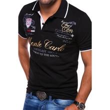 ZOGAA גברים פולו חולצה קצר שרוול כותנה מזדמן הדפסת מוצק אנטי לכווץ חולצות למעלה איכות Mens בגדי קיץ Polos tees