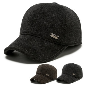 Classic winter keep warm basbsll cap Men's snapback hat with earflap solid colors with logo gorras trucker cap dad hat