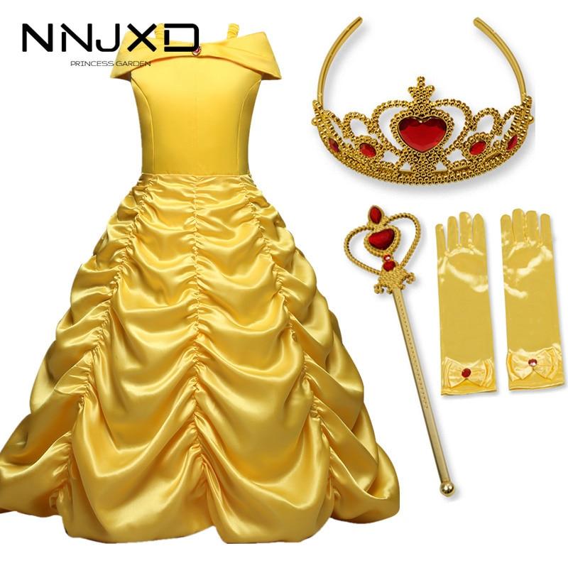 8Yrs Prinzessin Kleider Kostüm Königin Weiß Cosplay Kleid Mädchen der Partei Kleidung Fantasia Vestidos