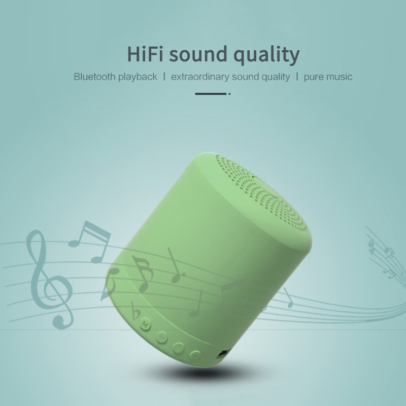 Bluetooth+FM MP3  Mini Smart Speaker Compatible With Most Wireless Devices Recharge Music Subwoofer HiFi Stereo Surround Sound