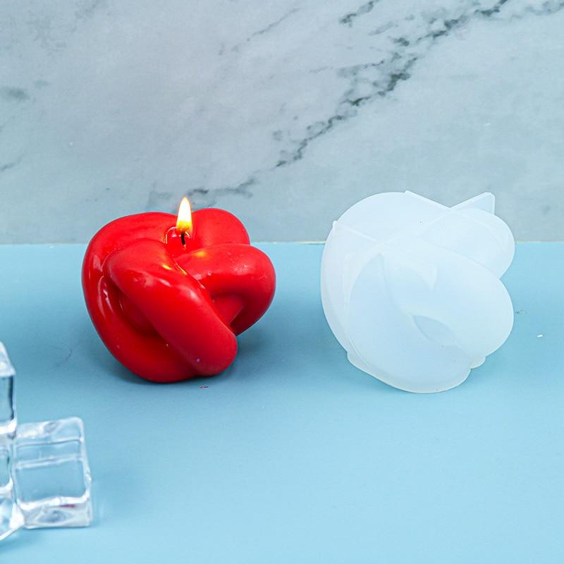 Силиконовая форма для свечей, шар из пряжи, геометрический узел, веревка, мыло из смолы, Ароматизированная Свеча «сделай сам», форма для воск...