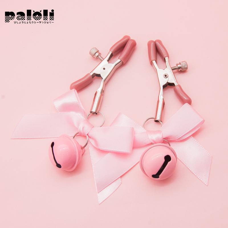 Black And Pink Woman  Adjustable Nipple Clamp Breast Bdsm Small Bell  Fetish Flirting Teasing  Toys For Couples