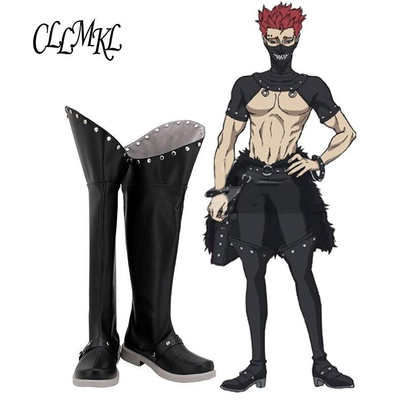 Trébol negro Zola Cosplay zapatos botas Halloween carnaval Cosplay disfraz