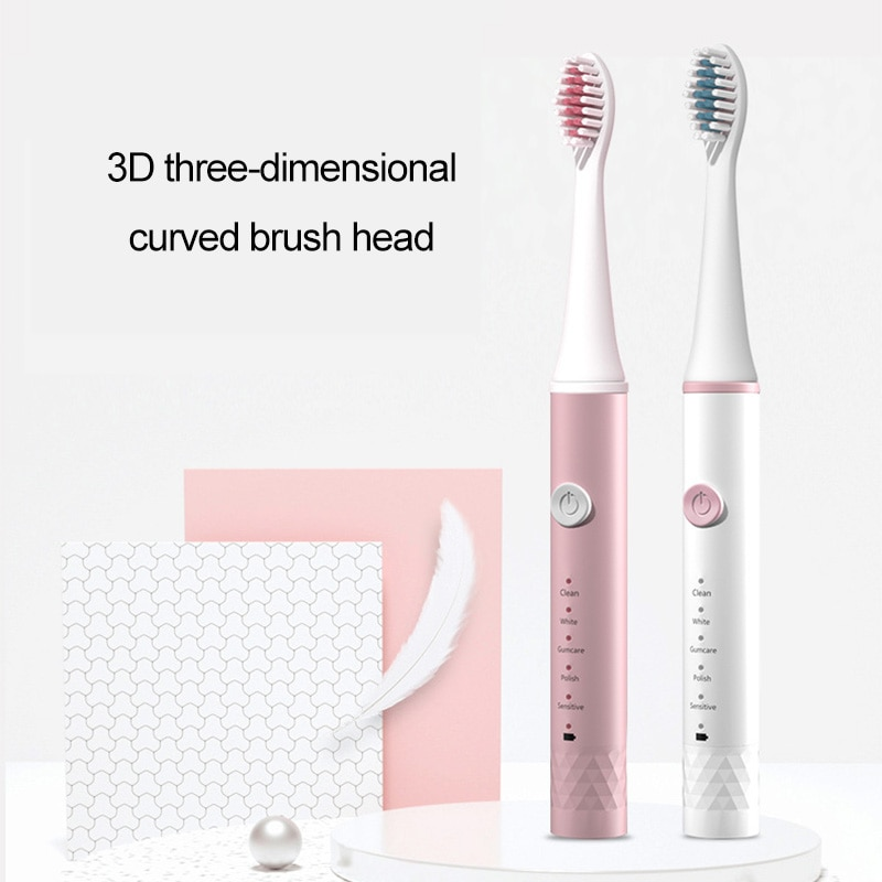 Smart Sonic Electric Toothbrush USB Rechargeable Ultrasonic Vibration Automatic Toothbrush 5 Modes Waterproof Teeth Whitening enlarge
