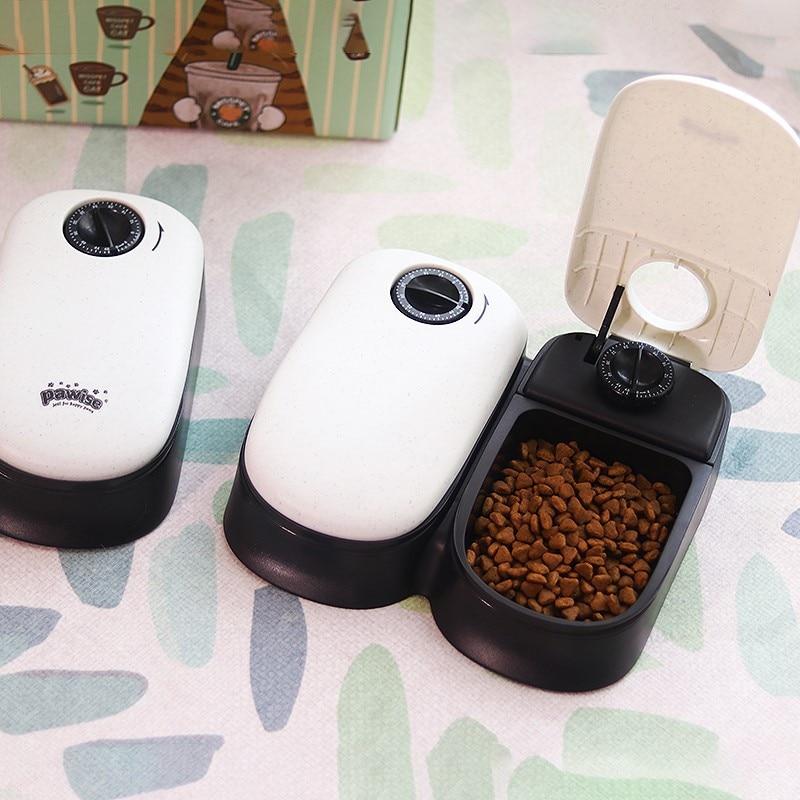 Mascotas perros gatos temporizador alimentadores de la comida para mascotas perro gato momento Alimentador automático comida seca de animal de plato para perros, gatos,