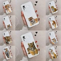 tiger phone case transparent for vivo s 9 7 6 iqoo neo 7 5 3 z3 z1 x e pro soft tpu clear mobile bags