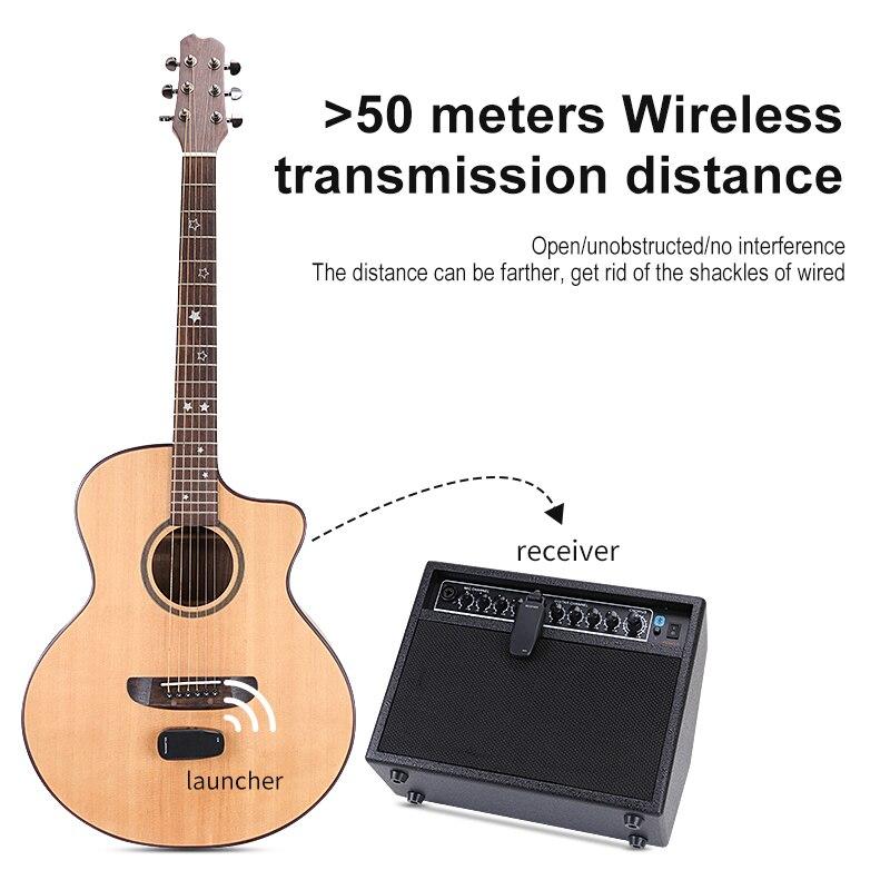 Custom Logo Wireless Vibration Pickup Low Latency Guitar Wireless Pickup Support Charging Guitar Pickup Guitar Amplifier Amp enlarge
