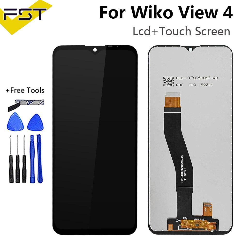 6.52 ''Voor Wiko View 4 Lcd-scherm Met Touch Screen Digitizer Voor Wiko View 2 Pro View3 View 4 lite View 5 Plus Lcd Sensor