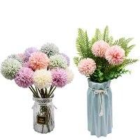 Bouquet de pissenlits artificiels  3 pieces  fausses fleurs  pour decorer la maison  pour un mariage  pour une fete