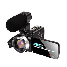 KOMERY 4K Video Camcorder WIFI 48MP Live Streaming for Youbute 16X 270 Degree Rotation Touch Screen