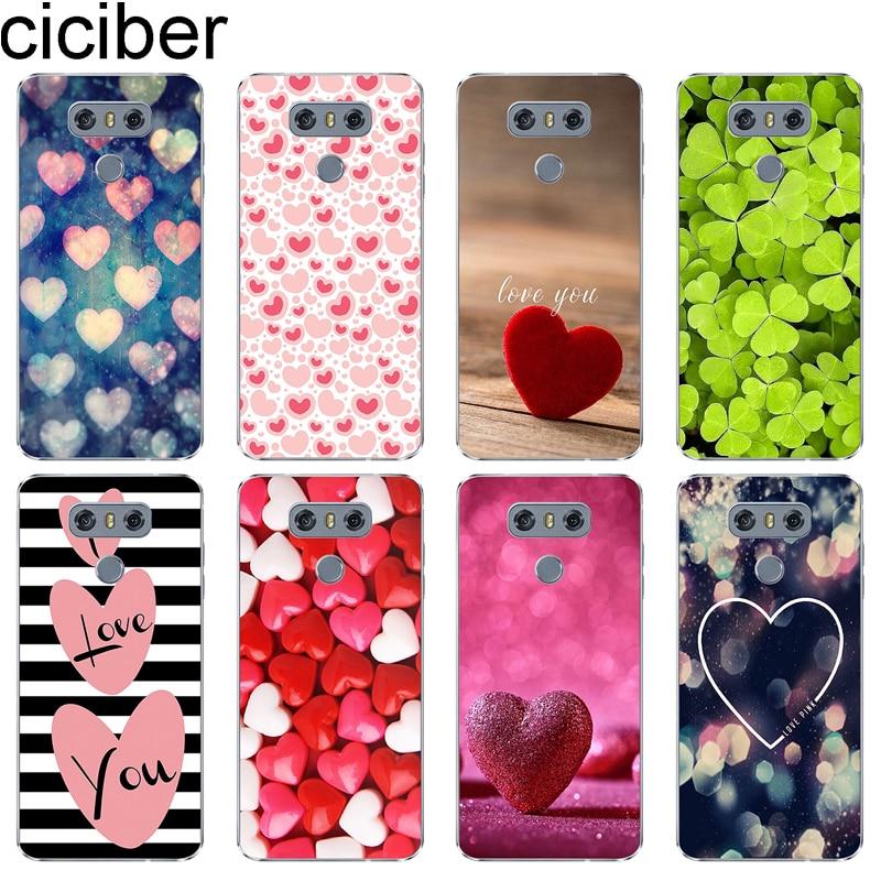 Amor Rosa para LG G7 ciciber G6 G5 G4 V40 V35 V30 V20 THINQ Soft Case Telefone TPU Para LG K8 K10 K4 K7 2017 2018 K9 K11 + Cover Coque